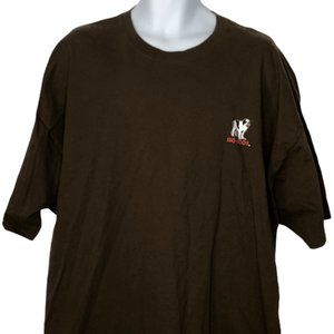Big Dog Brown T-Shirt Attitude Adjustment 4XL